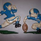 homco football metal wall hangings 1976 set of 2