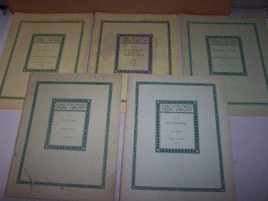 carl fischer's music library book lot 1903