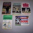 baseball paperback book lot sammy sosa mickey mantle
