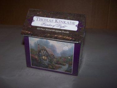 thomas kinkade chandler's cottage puzzle nib 100 pcs