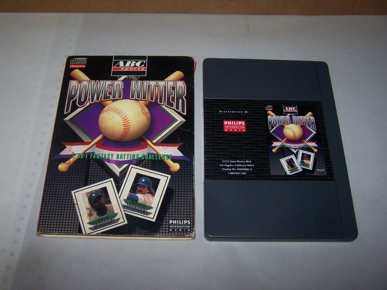 abc sports power hitter philips interactive game 1992