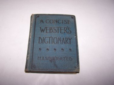 a concise webster's dictionary 1895 hc book