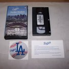 dodgers stadium the first 25 years vhs tape and sticker
