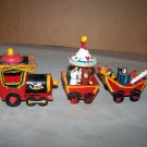 wooden train circus christmas ornaments vintage