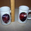 coca cola christmas collectors mugs 1996 lot of 2 mugs