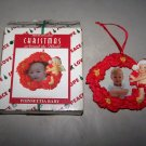 house of lloyd 1998 christmas around the world poinsettia frame ornament