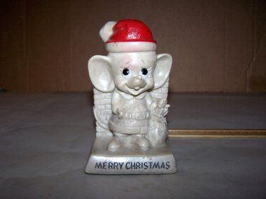 russ berrie christmas mouse figure 1970