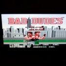 bad dudes nes game cart data east 1985