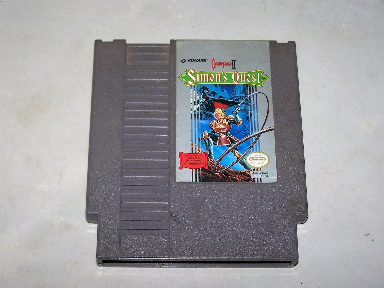 castlevania 2 simons quest nes game cart 1985 konami