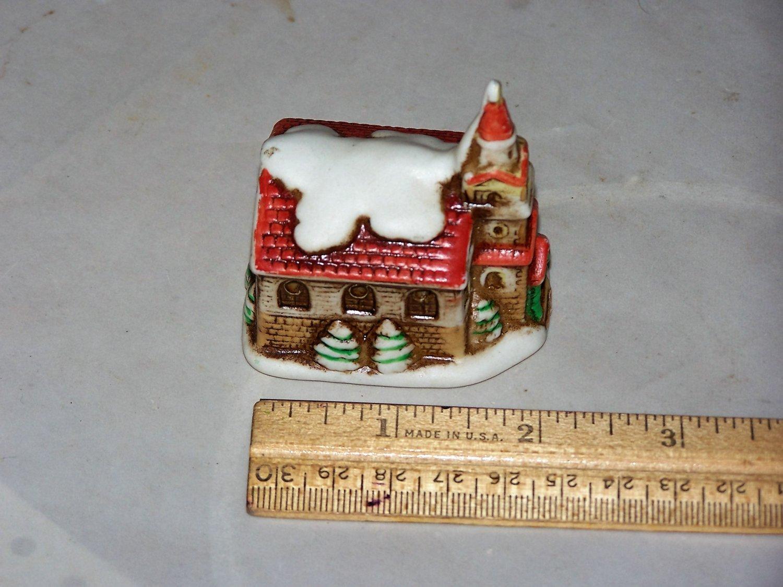 church lefton winter christmas church porcelain