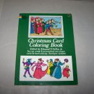 christmas card coloring book 1972 dover publ. vintage book