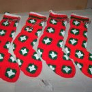 knitted christmas stocking lot of 4