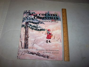lets paint a country christmas bonnie seaman 1978 classics unlimited book
