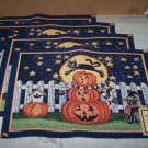 scarey night tapestry placemat haloween lot of 4