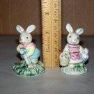 little bunny figurines porcelain easter bunnies 2 lot