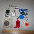 casino keychains lot of 9 dunes imperial palace tropicana vintage lot