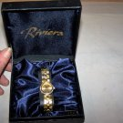 riviera gold colored watch nib ladies watch
