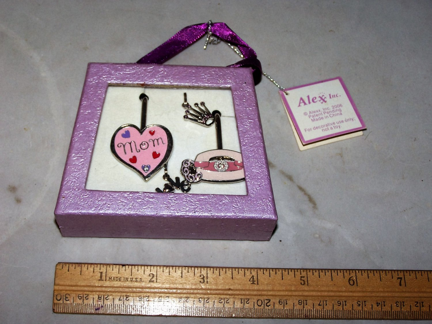 mom finders key purse charms set nib alex inc nib
