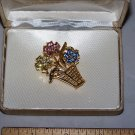 flower basket brooch jennifer moore nib