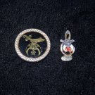 shriners bolo tie or scarf clip and musical note pin lot