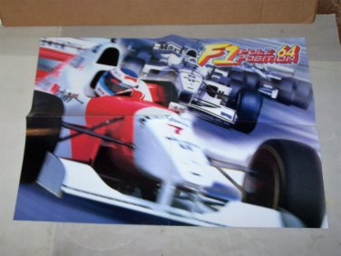 f1 pole position 64 poster 1997 video game poster