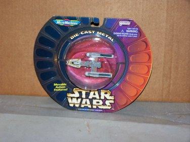 y wing die cast metal star wars micro machines bubble pack 1996 galoob nip