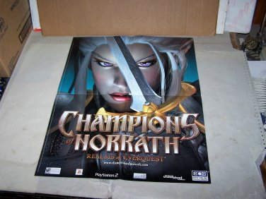 champions of norrath realms of everquest video game poster 2 sided poster