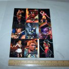 soul blade cards uncut sheet 1996 namco trading cards