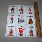 final fantasy tactics trading cards uncut sheet 1998 squaresoft cards