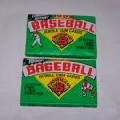 bowman baseball 1989 unopened wax packs lot of 2