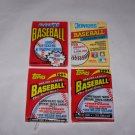 donruss 1991 fleer 1991 topps 1991 lot of 4 baseball packs