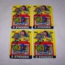 wacky packages 1990 topps unopened packs lot of 4 packs