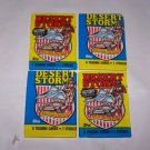 desert storm topps 1991 unopened packs lot of 4 packs