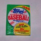 topps 1990 baseball unopened pack