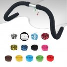 1 Pair Road Bike Bicycle Handlebar Bar Grip Wrap Ribbon Tape + 2 Bar Plugs HC