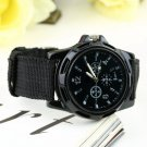 Unisex Men Women Luminous Quartz Wrist Watch Canvas Belt Army Sport Style HC