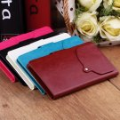 Universal PU Leather Wallet Flip Case Cover 24 Suction Cups for 5 Inch Phone HC