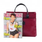 Women's Crocodile Pattern Fashion Handbag Portable Shoulder Bag Hobo Tote Bag HC