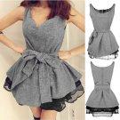Sexy Women Sleeveless Tutu Mini Dress Tank Top Casual Party Night Clubwear HC