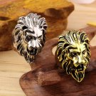 Stainless Steel Lion's Head Ring Men's Vintage Cool Ring American Size 8-10 HC