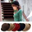 new Vintage Women Men Woolen Roll Brim Bowler Hats Unisex Billycock Classic HC