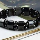 Fashion Black Magnetic Hematite Healing Mens Womens Loose Beads Bracelet HC