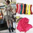 Fashion Voile Women Ladies Pure Colour Scarf Neck Soft Warm Shawl Scarf HC