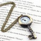 Retro Vintage Pocket Key-shaped Watch Necklace Wall Chart Pendant HC