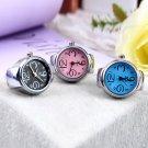 Creative Fashion Steel Round Elastic Quartz Finger Ring Watch Lady Girl Gift HC