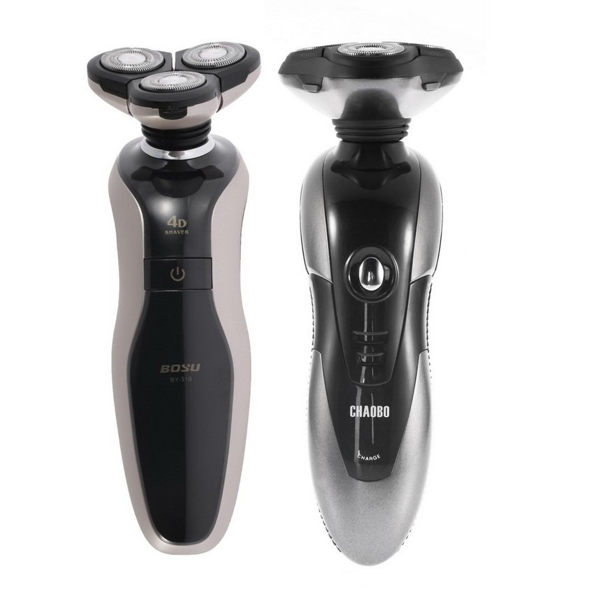 Men's Rechargeable Washable Cordless New 4D Rotary Electric Shaver Hair Razor HC