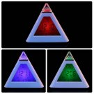 Hot LED Color Changing LCD Display Alarm Clock Thermometer Gift New HC