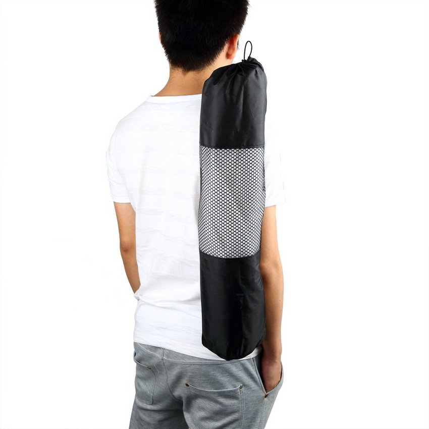 Portable Yoga Pilates Mat Nylon Bag Carrier Mesh Case Adjustable Strap HC