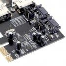 PCI-E To SATA3.0 Three Generations PCIE SATA3 Expansion Card PCI-E Adapter HC