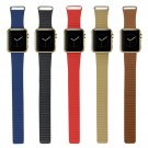 """Faux Leather Loop-meadium Watch Band Strap Replacement for Apple iWatch"" HC"